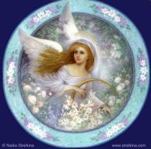 Ангел в саду