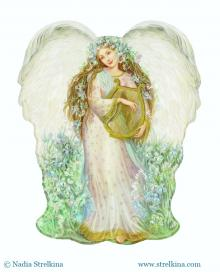 Ангел с арфой
